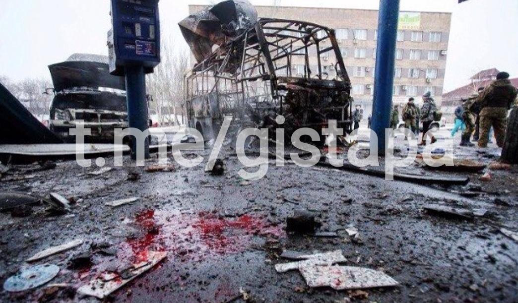 Обстрел АС Центр в Донецке. Из неопубликованного